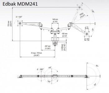 Stolní držák na monitory EDBAK MDM241