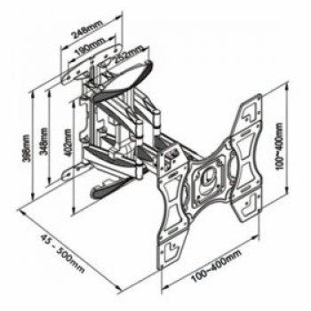 Otočný a sklopný držiak na TV Northbayou DF-600