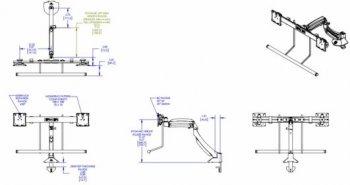 Profesionální stolní držák na monitory CHIEF K1D22