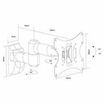 Stříbrný držák na TV Fiber Novelty FN-503A-S