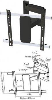 Špičkový držák na televizory Fiber Novelty FN20-443