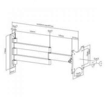 Kvalitní kloubový držák na LCD FN-101