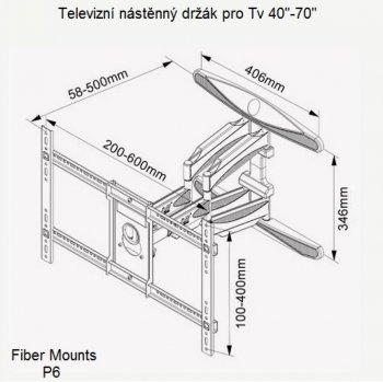 Držák na Tv Fiber Mounts P6
