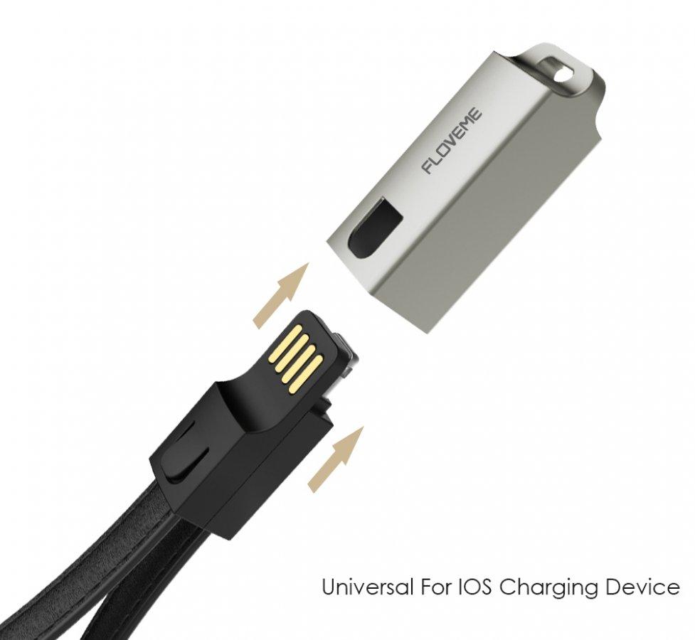 Kožená USB klíčenka s lightning konektorem HS-3010