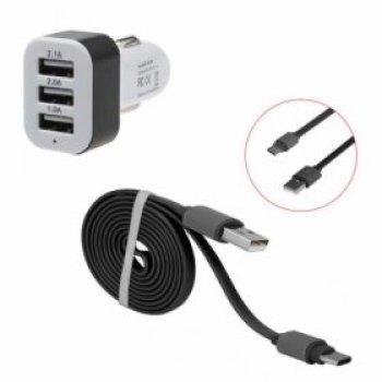 Nabíječka do auta s třemi USB porty HS-1704