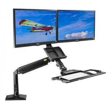 Držák na dva monitory a klávesnici FC-24
