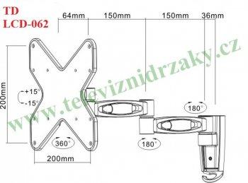 Designový Tv držák špičkové kvality Brateck LDA06-222