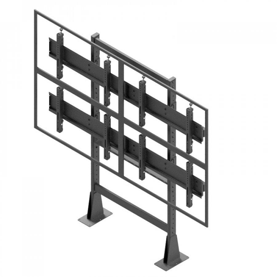 Statická televizní stěna 2x2 EDBAK VWS-2247-L